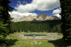 Lago Carezza Foto de Stock