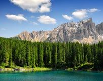 Lago Carezza - Italia Fotografia Stock Libera da Diritti