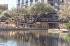 Lago Carolyn em Las Colinas, Irving, Texas, EUA fotos de stock royalty free