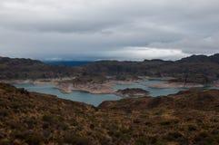 Lago Carrera,南方的Carretera,高速公路7,智利将军 库存照片