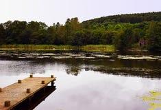 Lago castle de Hensol Imagens de Stock