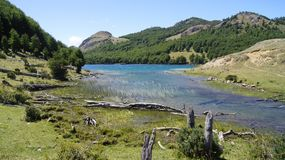 Lago Castor (Castor lake), Coyhaique, Patagonia, Chile stock photography