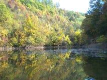 Lago Celije en autmun fotos de archivo