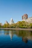 Lago central Park em New York City Foto de Stock