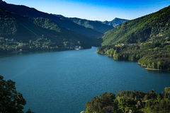 Lago cerca de Toscana foto de archivo