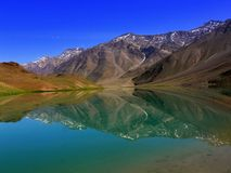 Lago Chandratal Fotografia Stock