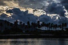Lago Chaweng - Koh Samui - tramonto immagini stock libere da diritti