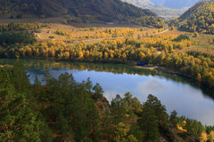 Lago Chemal Fotografia Stock
