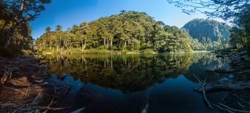 Lago Chico lake in National Park Huerquehue. Chile stock photo