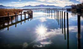 Lago Chiemsee Immagine Stock Libera da Diritti