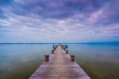Lago Chiemsee al crepuscolo Immagini Stock