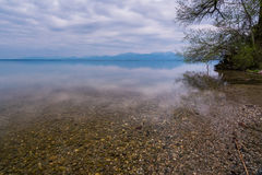 Lago Chiemsee al crepuscolo Fotografie Stock