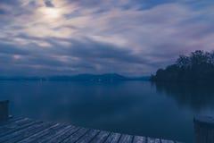 Lago Chiemsee al crepuscolo Immagine Stock