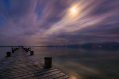 Lago Chiemsee al crepuscolo Immagini Stock Libere da Diritti