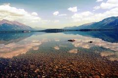 Lago Chilko nel Canada immagini stock