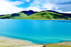 Lago china Tibet Fotografie Stock