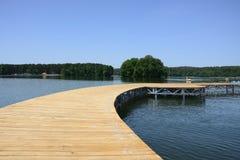 Lago, ciudad y alrededores - Lubniewice Foto de archivo