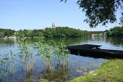 Lago, ciudad y alrededores - Lubniewice Fotografía de archivo