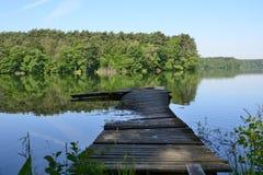 Lago, ciudad y alrededores - Lubniewice fotos de archivo libres de regalías