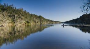 Lago Coffenbury di pesca fotografia stock
