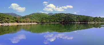Lago Coghinas Imagens de Stock Royalty Free