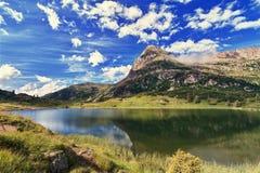 Lago Colbricon - HDR Immagini Stock Libere da Diritti