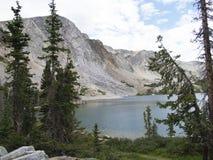 Lago colorado Fotografía de archivo libre de regalías