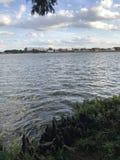 Lago com hilll da formiga imagens de stock royalty free