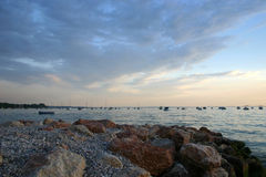Lago com iate Fotografia de Stock