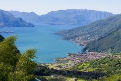 Lago Como in alpi italiane Fotografia Stock Libera da Diritti