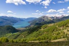 Lago Como in alpi italiane Fotografie Stock Libere da Diritti