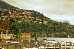 Lago Como Cernobbio Italia Fotos de archivo