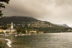 Lago Como Cernobbio Italia fotografía de archivo