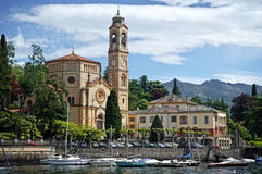 Lago Como church Fotos de archivo