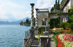 Lago Como dalla villa Monastero. L'Italia Fotografia Stock