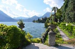 Lago Como dalla villa Monastero L'Italia Immagini Stock Libere da Diritti