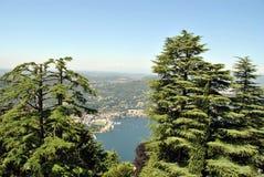 Lago Como de Brunate Fotografia de Stock Royalty Free