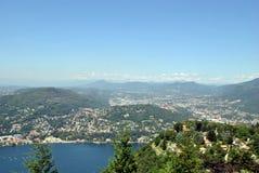 Lago Como de Brunate Fotografia de Stock
