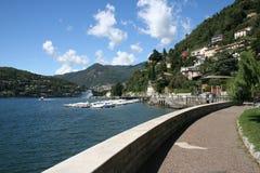 Lago Como della città di Como Fotografie Stock Libere da Diritti