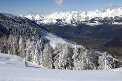 Lago Como di paesaggio di inverno Fotografia Stock Libera da Diritti