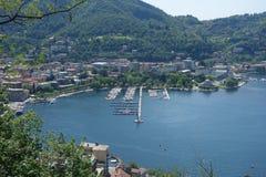 Lago Como en Brunate Fotografía de archivo