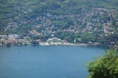 Lago Como en Brunate Imágenes de archivo libres de regalías