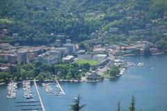 Lago Como en Brunate Imagen de archivo