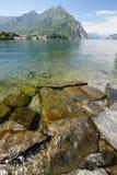 Lago Como en Italia septentrional Fotos de archivo