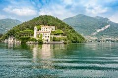 Самое красивое озеро на мире Lago Como Ломбардия, Италия стоковые изображения