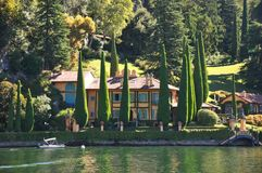 lago Como Itália da casa de campo da celebridade Foto de Stock Royalty Free