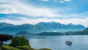 Lago Como Italia Fotografía de archivo libre de regalías