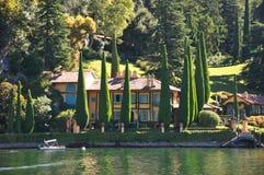 lago Como Italia del chalet de la celebridad Foto de archivo libre de regalías