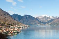 Lago Como, Italy. Village in the shore of Lago Como, in Italy Royalty Free Stock Photo