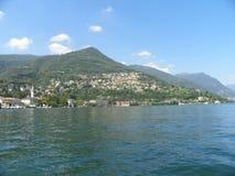 Lago Como & x28; Lago di Como& x29; em Lombardy, Itália Imagens de Stock